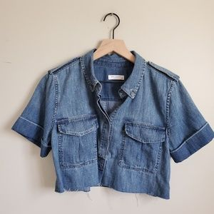 EQUIPMENT BRAND DENIM CROP TOP s/p